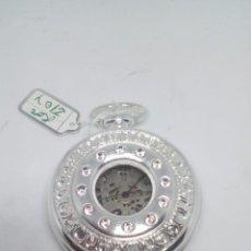 Relojes de bolsillo: RELOJ DE BOLSILLO BAÑO DE PLATA FUNCIONANDO. Lote 102151311