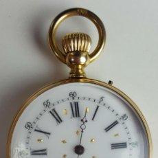 Relojes de bolsillo: RELOJ DE BOLSILLO. HAAS JENE AND CIE. ORO DE 14 K. SIGLO XIX.. Lote 102359079
