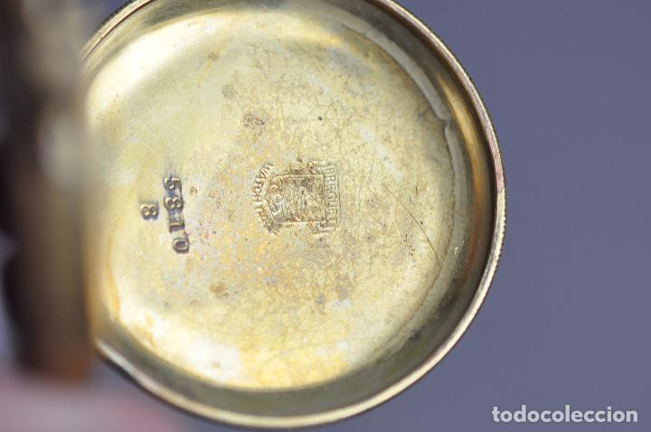 Relojes de bolsillo: ANTIGUO RELOJ DE BOLSILLO , EN ESTADO AVERIADO . RIVA - BREGUET WATCH CASE CHAPADO ORO - Foto 2 - 102362763