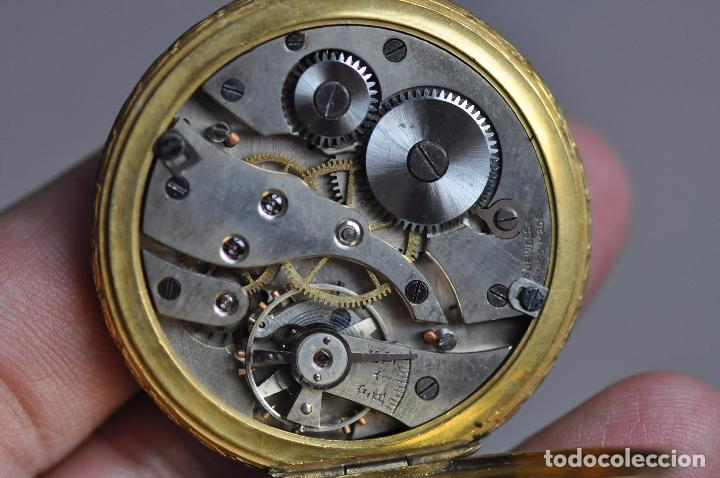 Relojes de bolsillo: ANTIGUO RELOJ DE BOLSILLO , EN ESTADO AVERIADO . RIVA - BREGUET WATCH CASE CHAPADO ORO - Foto 5 - 102362763