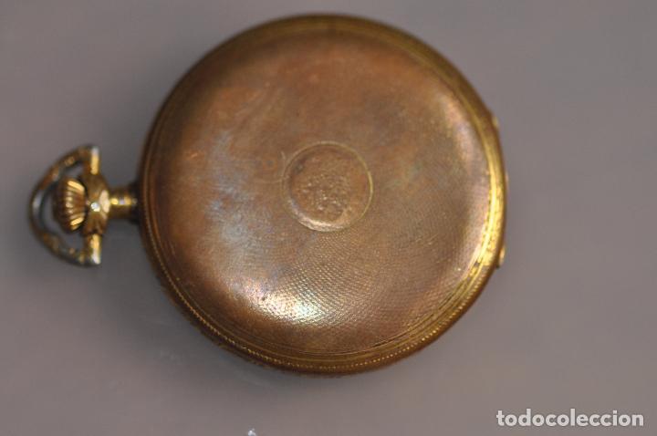 Relojes de bolsillo: ANTIGUO RELOJ DE BOLSILLO , EN ESTADO AVERIADO . RIVA - BREGUET WATCH CASE CHAPADO ORO - Foto 6 - 102362763