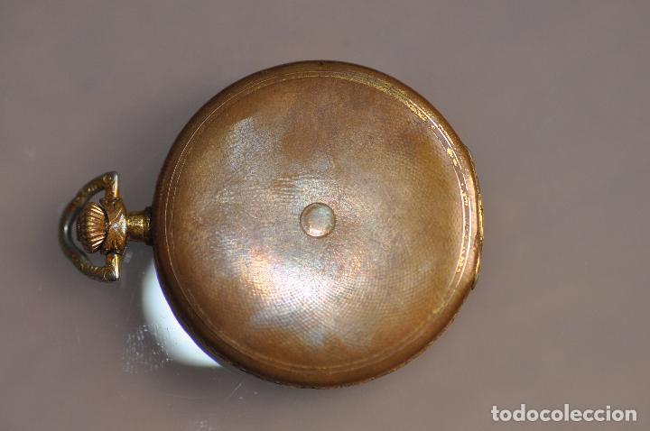 Relojes de bolsillo: ANTIGUO RELOJ DE BOLSILLO , EN ESTADO AVERIADO . RIVA - BREGUET WATCH CASE CHAPADO ORO - Foto 7 - 102362763
