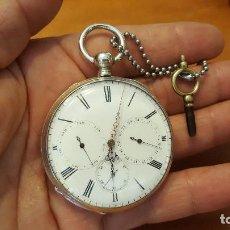 Relojes de bolsillo: RELOJ BOLSILLO CON LLAVE ANTIGUO. Lote 103085563