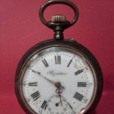 Relojes de bolsillo: RELOJ DE BOLSILLO REGULATEUR EN ACERO DE GRAN TAMAÑO. Lote 103114082