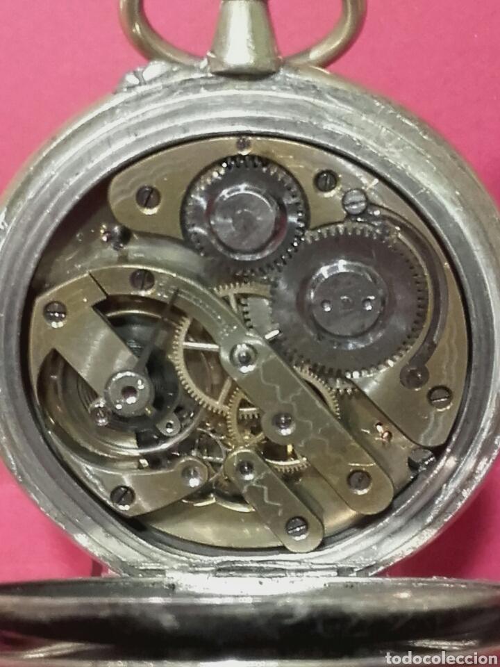 Relojes de bolsillo: RELOJ DE BOLSILLO REGULATEUR NIQUELADO DE GRAN TAMAÑO - Foto 5 - 103115218