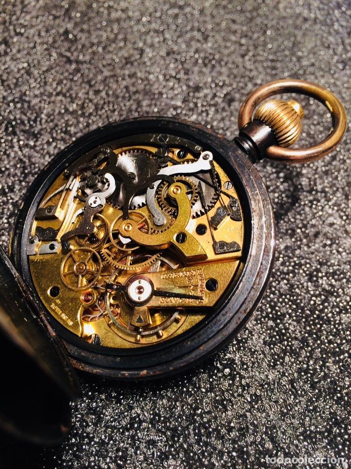 Relojes de bolsillo: Reloj de bolsillo cronógrafo, crono, cronómetro Le Phare. Funciona - Foto 2 - 103165655