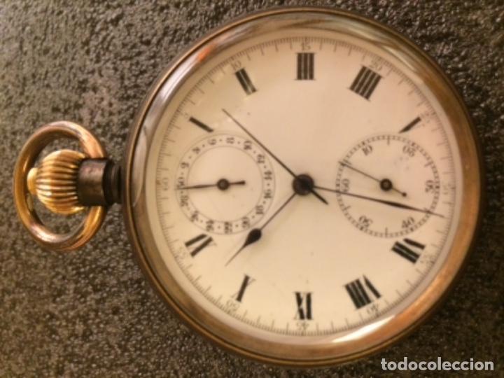 Relojes de bolsillo: Reloj de bolsillo cronógrafo, crono, cronómetro Le Phare. Funciona - Foto 4 - 103165655