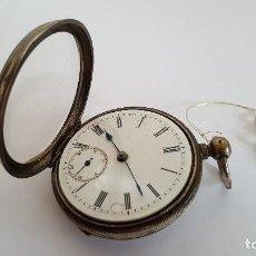 Relojes de bolsillo: RELOJ DE BOLSILLO PLATA SIGLO XIX. RELOJ DE BOLSILLO ANTIGUO.. Lote 103200615
