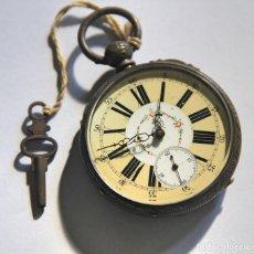 Relojes de bolsillo: RELOJ IMPROVED PATENT. PLATA Y ESMALTE. FUNCIONA. INGLATERRA. PRINC. S. XX. Lote 103393555