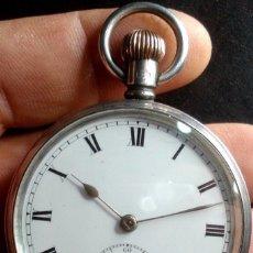 Relojes de bolsillo: ANTIGUO RELOJ DE BOLSILLO DE PLATA DOS TAPAS INGLATERRA AÑO 1908 Nº 12.061 MOVIMIENTO VIGIL. Lote 103402398