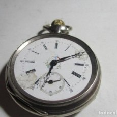 Relojes de bolsillo: RELOJ DE BOLSILLO FUNCIONANDO TRES TAPAS PLATA . Lote 103416071