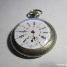 Relojes de bolsillo: RELOJ DE PLATA FUNCIONANDO ARGENTAN . Lote 103420439