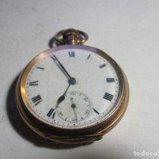 Relojes de bolsillo: RELOJ CHAPADO EN ORO TRES TAPAS FUNCIONANDO . Lote 103421715