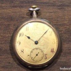 Relojes de bolsillo: ANTIGUO RELOJ DE BOLSILLO A CUERDA -SPIRAL BREGUET - PLATA 0,800 DOUBLE PLATEAU. Lote 103478647