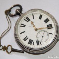 Relojes de bolsillo: RELOJ H. STONE. PLATA Y PORCELANA. NECESITA REPARACIÓN. LEEDS. PRINC. S. XX. Lote 103486783