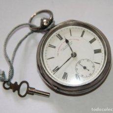 Relojes de bolsillo: RELOJ J. G. GRAVES. PLATA Y PORCELANA. FUNCIONA. SHEFFIELD. PRINC. S. XX. Lote 103487915