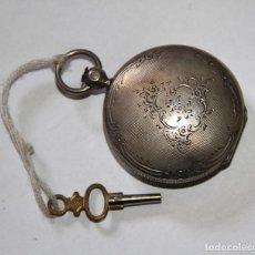 Relojes de bolsillo: RELOJ CATALINO. PLATA Y PORCELANA. FUNCIONA. FINALES S. XVIII. Lote 103489163