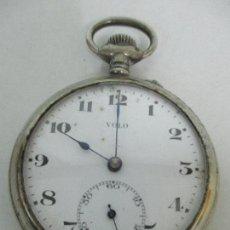 Relojes de bolsillo: ANTIGUO RELOJ DE BOLSILLO - MARCA VOLO - METAL PLATEADO - PRINCIPIOS S. XX. Lote 103517843