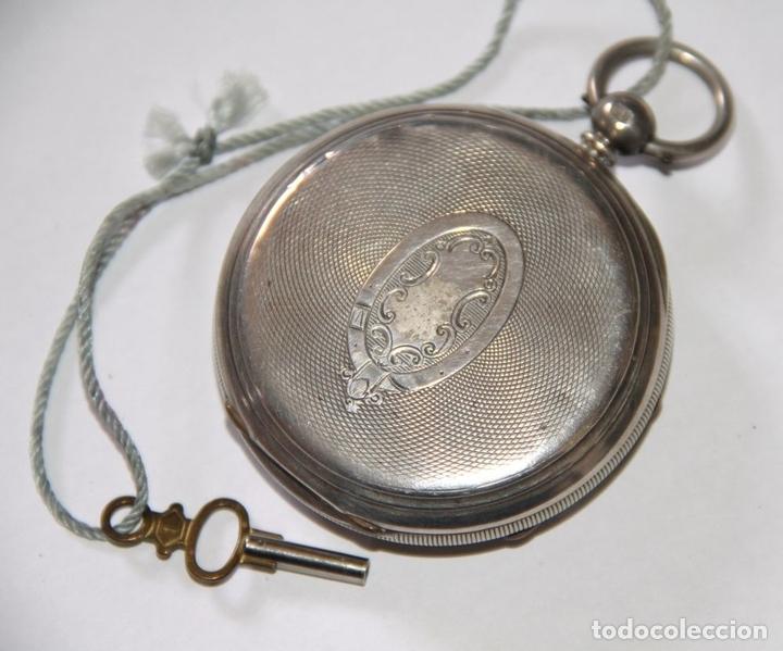 Relojes de bolsillo: RELOJ CENTRE SECONDS CHRONOGRAPH. PLATA Y PORCELANA. FUNCIONA. SUIZA. PRINC. S. XX - Foto 3 - 103576935