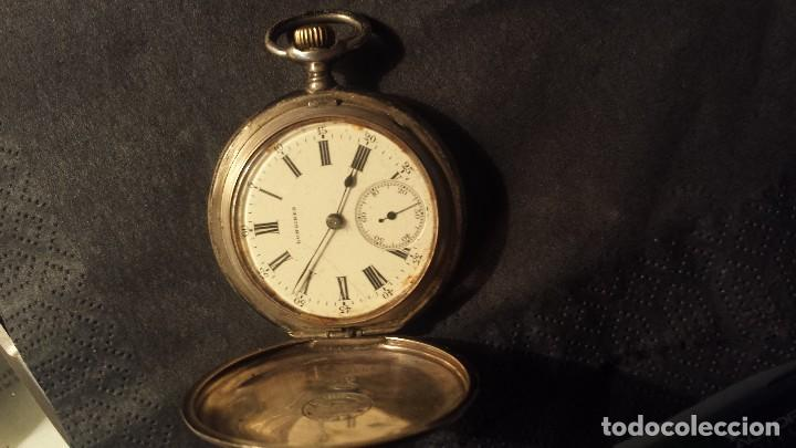 ANTIGUO RELOJ DE BOLSILLO DE PLATA LONGINES (Relojes - Bolsillo Carga Manual)