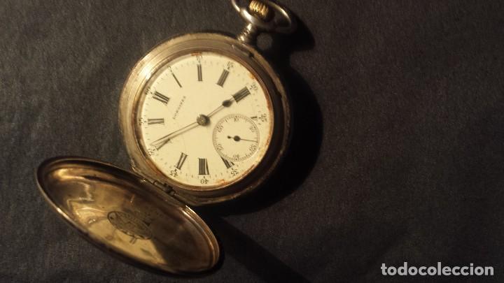 Relojes de bolsillo: antiguo reloj de bolsillo de plata Longines - Foto 2 - 103633227