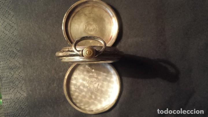 Relojes de bolsillo: antiguo reloj de bolsillo de plata Longines - Foto 4 - 103633227