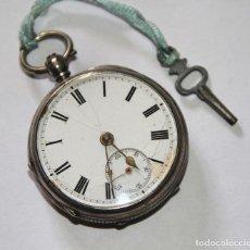 Relojes de bolsillo: RELOJ CATALINO WILLIAM DOW. PLATA Y PORCELANA. NECESITA AJUSTE. ESCOCIA. PRINC. S. XIX. Lote 103679095
