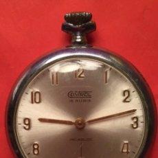 Relojes de bolsillo: ANTIGUO RELOJ BOLSILLO CONTROL 15 RUBIS INCABLOC FUNCIONANDO. Lote 103704775
