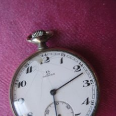 Relojes de bolsillo: RELOJ DE BOLSILLO, OMEGA DE PLATA SUIZO FUNCIONANDO. AÑOS 20. Lote 103863235