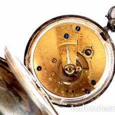 Relojes de bolsillo: RELOJ BOLSILLO WALTHAM MASS EN PLATA PAT PINION 4143047 SERIE 4.464.121 AÑO 1889. Lote 103871979