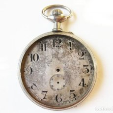 Relojes de bolsillo: CAJA DE RELOJ DE BOLSILLO GIGANTE. 7,5 CM DE DIÁMETRO. VACÍA.. Lote 103980587