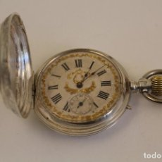 Relojes de bolsillo: RELOJ DE BOLSILLO ANCRE LIGNE DADITE REMONTOIR - PLATA LABRADA - FUNCIONA . Lote 104003227