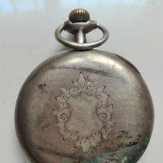 Relojes de bolsillo: RELOJ DE CUERDA SIN TAPA POSTERIOR Y DE PLATA. Lote 104068583