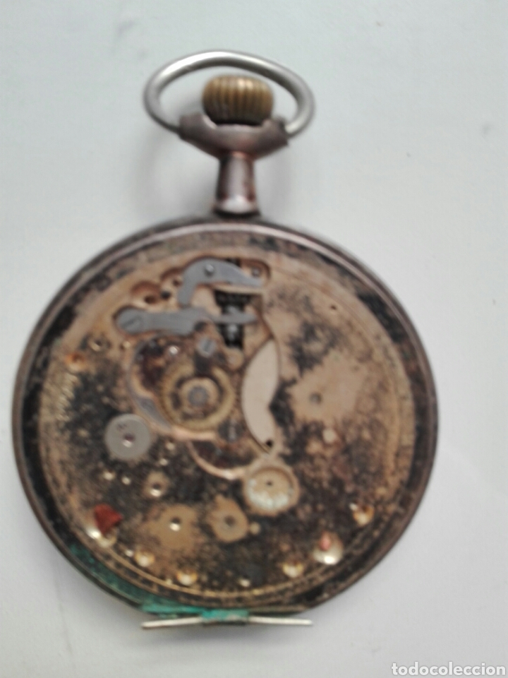 Relojes de bolsillo: Reloj de cuerda sin tapa posterior y de plata - Foto 2 - 104068583
