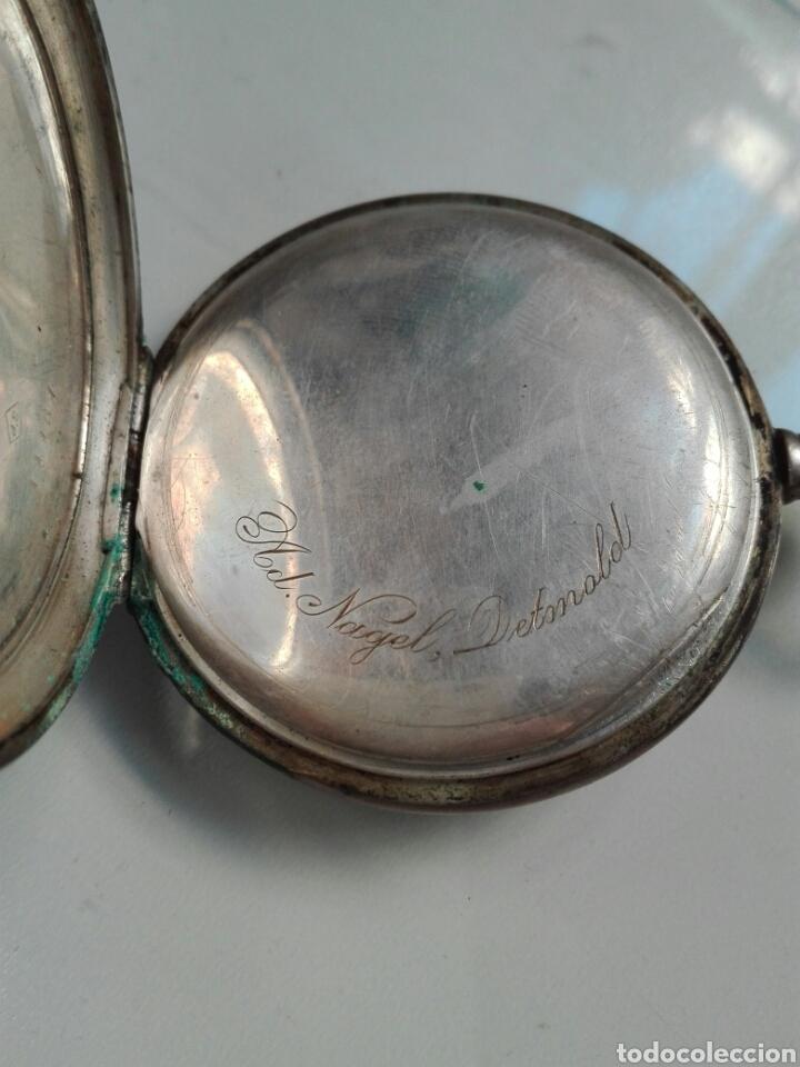 Relojes de bolsillo: Reloj de cuerda sin tapa posterior y de plata - Foto 3 - 104068583