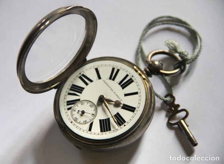 Relojes de bolsillo: SEMICATALINO IMPROVED PATENT. PLATA Y PORCELANA. FUNCIONA. INGLATERRA. S. XIX - Foto 2 - 213443957
