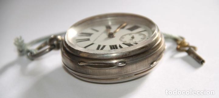 Relojes de bolsillo: SEMICATALINO IMPROVED PATENT. PLATA Y PORCELANA. FUNCIONA. INGLATERRA. S. XIX - Foto 3 - 213443957