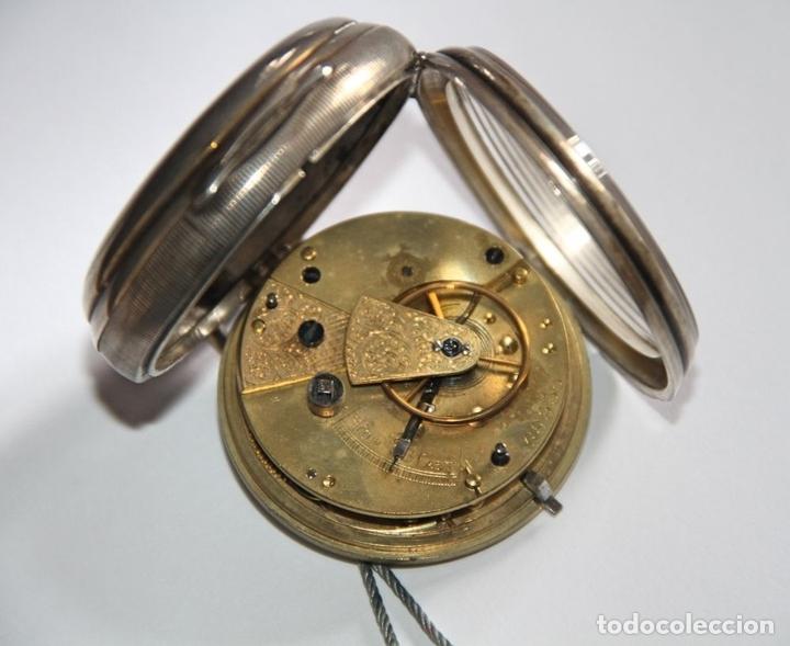 Relojes de bolsillo: SEMICATALINO IMPROVED PATENT. PLATA Y PORCELANA. FUNCIONA. INGLATERRA. S. XIX - Foto 5 - 213443957
