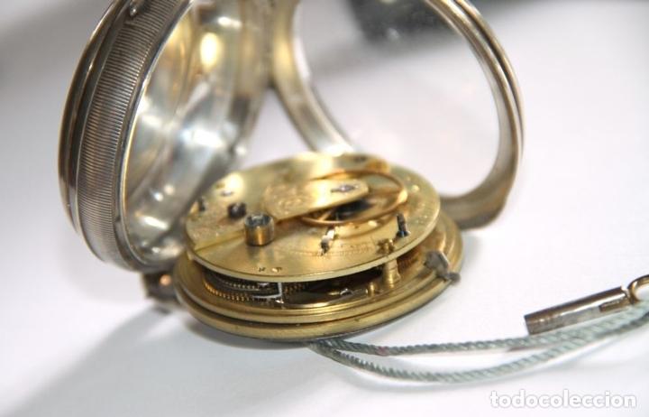 Relojes de bolsillo: SEMICATALINO IMPROVED PATENT. PLATA Y PORCELANA. FUNCIONA. INGLATERRA. S. XIX - Foto 6 - 213443957
