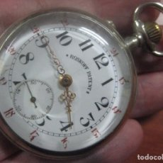 Relojes de bolsillo: TREMENDO ROSKOPF PATENT DE ESTRELLA DE 5 PUNTAS LOBULADA DE 1910, CUERDA ROTA, ENORME DE 58 MM. Lote 104596687