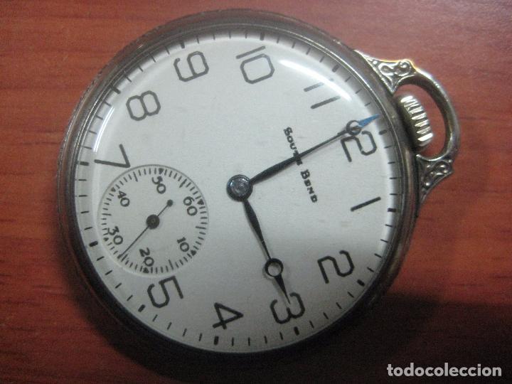 Relojes de bolsillo: RELOJ DE BOLSILLO SOUTH BEND (STUDEBAKER) CALIBRE 429 DE 19 JOYAS LEYENDA DE LOS MACCABEOS, FUNCIONA - Foto 2 - 104630607