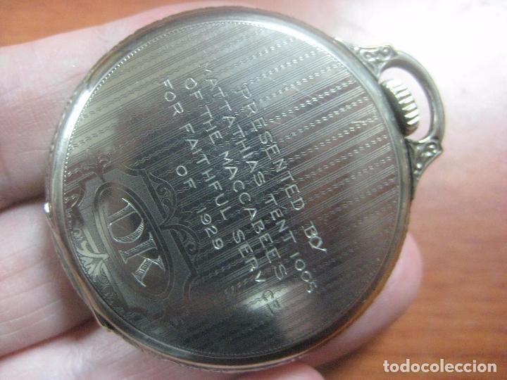 Relojes de bolsillo: RELOJ DE BOLSILLO SOUTH BEND (STUDEBAKER) CALIBRE 429 DE 19 JOYAS LEYENDA DE LOS MACCABEOS, FUNCIONA - Foto 3 - 104630607
