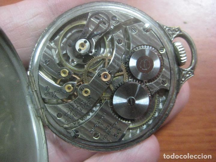 Relojes de bolsillo: RELOJ DE BOLSILLO SOUTH BEND (STUDEBAKER) CALIBRE 429 DE 19 JOYAS LEYENDA DE LOS MACCABEOS, FUNCIONA - Foto 4 - 104630607