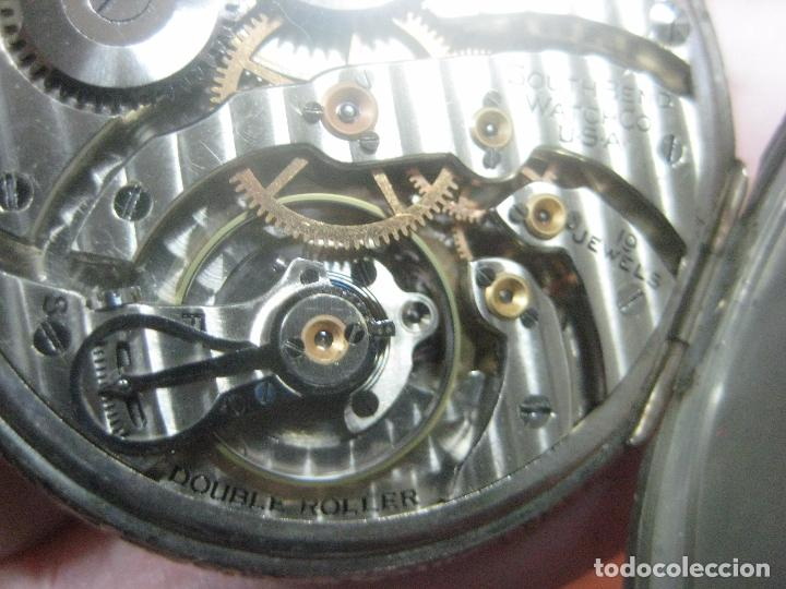 Relojes de bolsillo: RELOJ DE BOLSILLO SOUTH BEND (STUDEBAKER) CALIBRE 429 DE 19 JOYAS LEYENDA DE LOS MACCABEOS, FUNCIONA - Foto 7 - 104630607