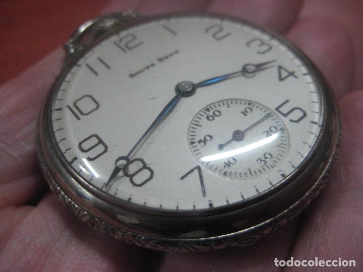Relojes de bolsillo: RELOJ DE BOLSILLO SOUTH BEND (STUDEBAKER) CALIBRE 429 DE 19 JOYAS LEYENDA DE LOS MACCABEOS, FUNCIONA - Foto 9 - 104630607