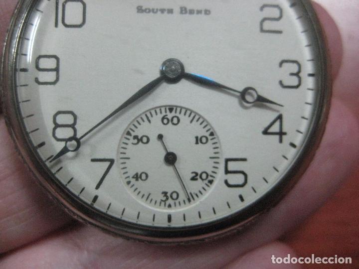 Relojes de bolsillo: RELOJ DE BOLSILLO SOUTH BEND (STUDEBAKER) CALIBRE 429 DE 19 JOYAS LEYENDA DE LOS MACCABEOS, FUNCIONA - Foto 12 - 104630607