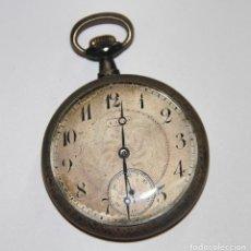 Relojes de bolsillo: RELOJ DE BOLSILLO CANIGO. PLATA Y METAL. FUNCIONA. ESPAÑA. PRINC. S. XX. Lote 104688775
