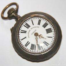 Relojes de bolsillo: RELOJ ROSKOPF PATENT. METAL, ESMALTE Y PORCELANA. NECESITA REPARACIÓN. FINALES S. XIX. Lote 104693171