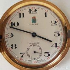 Relojes de bolsillo: RELOJ DE BOLSILLO. FFP. 17 RUBIS. CHAPADO EN ORO. SUIZA. CIRCA 1950.. Lote 104875999
