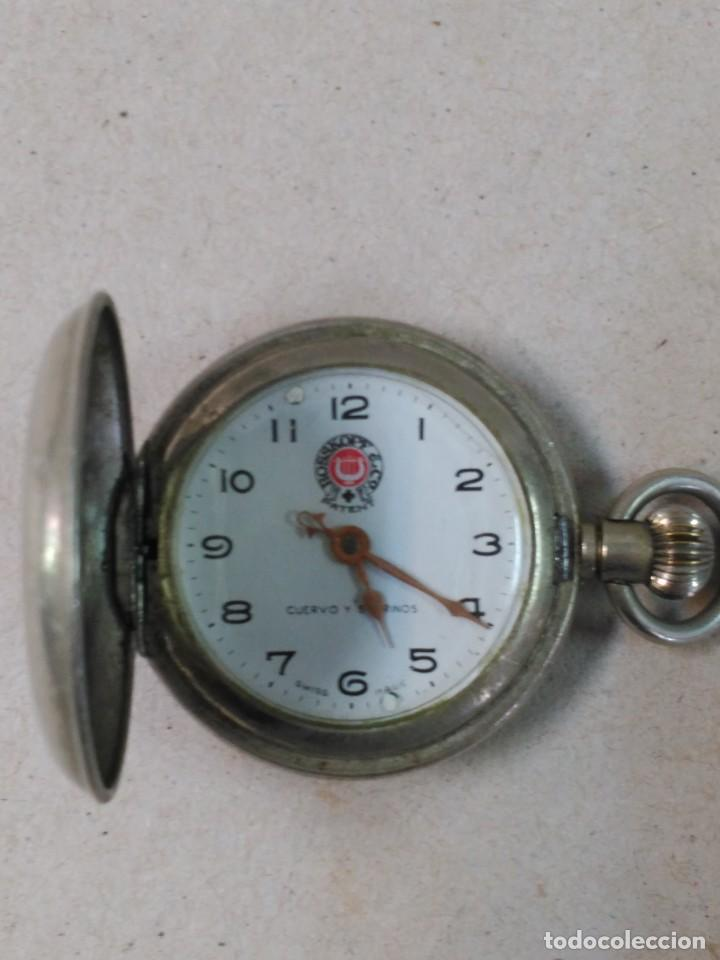 RELOJ DE BOLSILLO CARGA MANUAL CUERVO Y SOBRINOS (Relojes - Bolsillo Carga Manual)